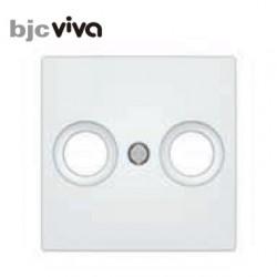 Tapa toma television blanco polar BJC serie Viva 23330