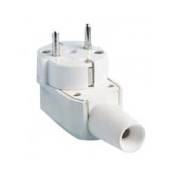 Base móvil aérea de 16 A 250 V color blanca de Electro Dh. Mod. 36.036/P/B