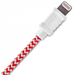 CONEXIÓN IPHONE USB LIGHTNING ROJO / BLANCO 1m DCU