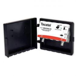 Amplificador de mástil con ganancia 30dB, 1 entrada UHF con filtro LTE de Tecatel
