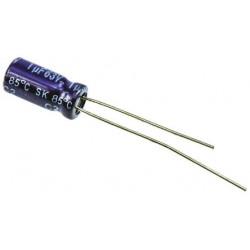 Condensador electrolítico mini 10uf 63v