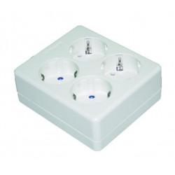 Base múltiple de 6 tomas sin cable Electro DH. Mod. 36.141/SC