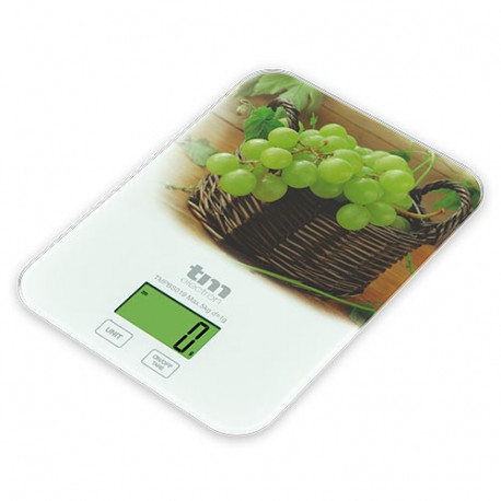 Báscula de cocina motivo uvas TMelectron