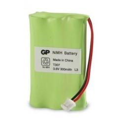 Pack de baterías 2,4V/300mAh Ni-Cd. Mod. BAT042