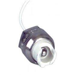 Portalámparas halógeno Con cable silicona y fibra de vidrio de 15 cm Electro DH. Mod. 12.085