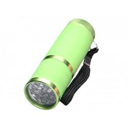 Linterna de bolsillo aluminio 9 led.
