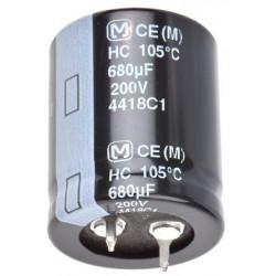 Condensador electolítico snapin 680uF  400V
