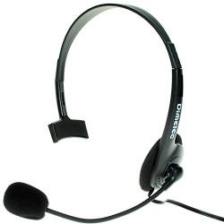 Auricular con micrófono de diadema - DUAL: teléfono y multimedia. Incluye adaptador teléfono. DIMELEC. Mod. 903-7218