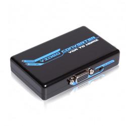 Convertidor VGA + Audio RL a HDMI 1080P. Mod. 1240S