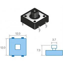 Pulsador de tacto vertical SW081