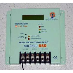 Regulador digital Solener RSD 30A 12/24V. Mod. 201800RSD30A