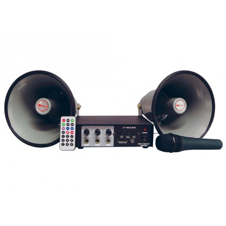 AMPLIFICADOR CON USB + MICRO+2 BOCINAS  MARK