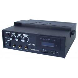 LTC PAA60USB Amplificador PA Karaoke USB SD MP3 -12V