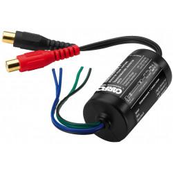 Transformador, para conectar las salidas de altavoz de una radio de coche a las entradas de línea de un amplificador.