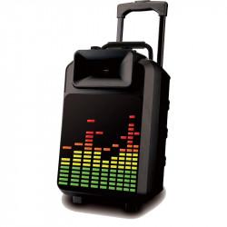 "IBIZA SOUND POWER8-LED ALTAVOZ PORTATIL A BATERIAS 8"" 120W VHF MIC"