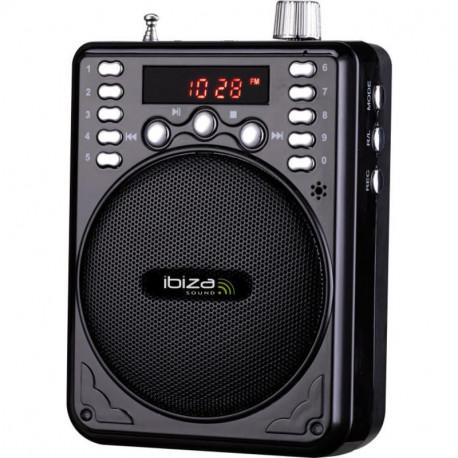 IBIZA SOUND PORT1-BT ALTAVOZ PORTATIL A BATERIAS 30W SD/USB/FM/BLUETOOTH