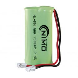 Pack de baterías 2,4V/700mAh NI-MH