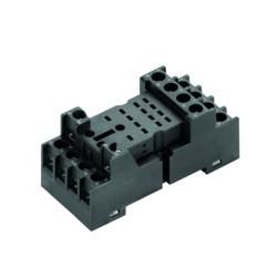 Zócalo carril para relé de 4 contactos