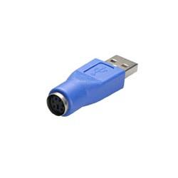 Adaptador USB Macho A - Mini-Din Hembra 6 contactos.