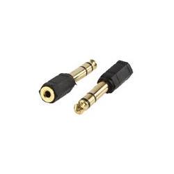 Adaptador jack 3.5mm hembra stereo a jack 6.3mm macho stereo