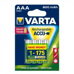 Varta Power Accu Batería - Tipo AAA - NiMH 800 mAh