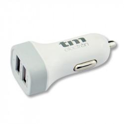 Cargador USB coche dual 2.1A. Mod. TMUAD104