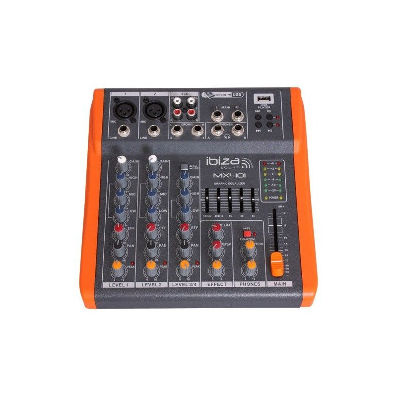 Mesa de mezclas de 4 canales extra compacta ecobadajoz don benito - Mesa de mezclas 2 canales ...