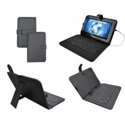 """Funda universal con teclado y soporte tablets 9"""" SUNSTECH. Mod. KEY9"""