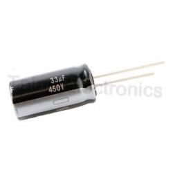 Condensador electrolítico 33uf 450v  16x20 105º