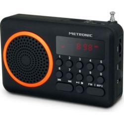 Radio portátil FM METRONIC - USB- NARANJA