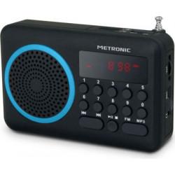 Radio portátil FM METRONIC - USB- AZUL