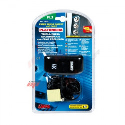 toma de mechero triple con cable 12-24v