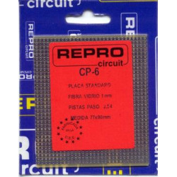Placa fibra de vidrio pistas paso 2.54mm CP6