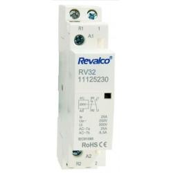 Contactor Modular 2 polos 25A 230V. Mod. RV32