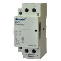 Contactor Modular 2 polos 63A 230V. Mod. RV32