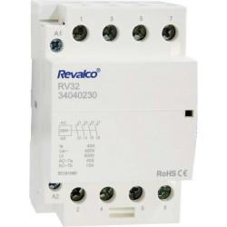 Contactor Modular 4 polos 63A 230V. Mod. RV32