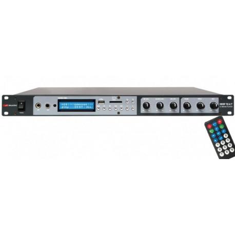 Amplificador 2x100W @ 8Ohm , reproductor multimedia y mezclador formato Rack