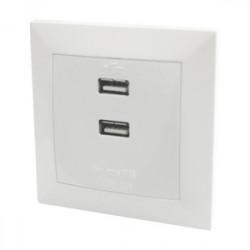 Mecanismo empotrable con 2 puertos USB 5V/2.1A DC. Mod. 36.574