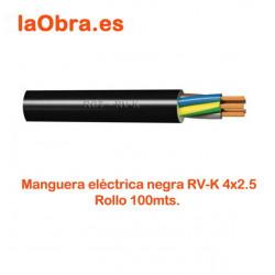 Manguera acrilica negra 0.6/1Kv 4x1,5mm MN4X2.5