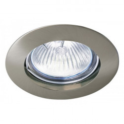 Aro empotrable aluminio fijo redondo 50 mm Niquel. Mod. 306NK