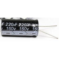 Condensador electrolítico 220uf 160v  16X36 105º  CE220160