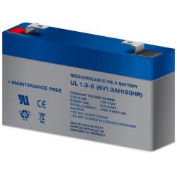 Batería plomo 6,0V/1,3Ah. Mod. BAT303