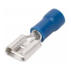 Terminal de horquilla preaislado, M5, Azul, 1.5mm² a 2.5mm². Mod. TE-H25-5