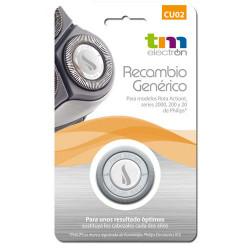 Cabezales de afeitado genérico CU02 TM Electron. Para modelos Rota Action de Philips.