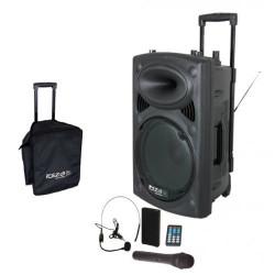 "Sistema de sonido portátil (trolley) Ibiza Sound 15"" 450W. Mod. PORT15VHF-BT"