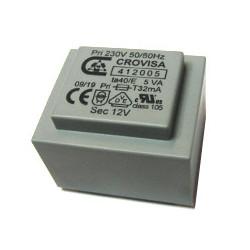 Transformador encapsulado Crovisa 6V  2.8VA  0.46A  406928