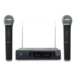 Doble micrófono inalámbrico de mano VHF. Mod. MSH-206