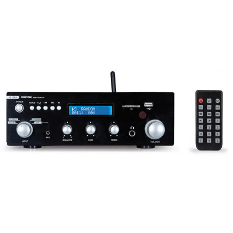 Amplificador estereo 2x30W Hi-Fi BT/USB/SD/FM FONESTAR. Mod. AS-25RUB