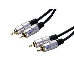 Conexión Audio dos RCA machos a dos RCA machos de 1.5 metros. Mod. 6510