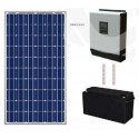 Kit solar basic sin mantenimiento 600 Wh/día